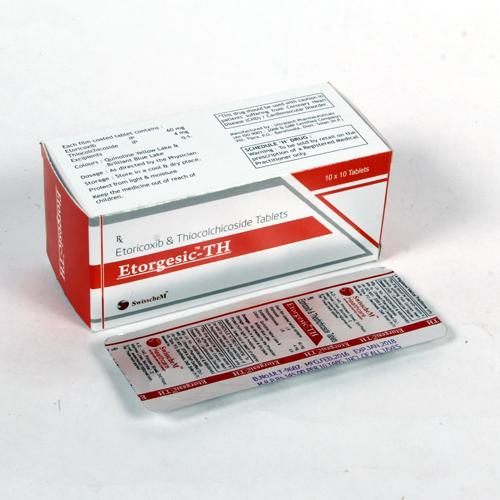 Aceclofenac & Thiocolchicoside Tablet for pharma franchise